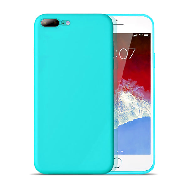 Matte Mint Blue Soft Case (iPhone 7+/8+)