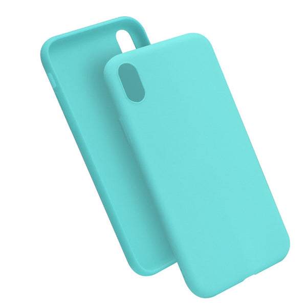 Matte Mint Blue Soft Case (iPhone XR)