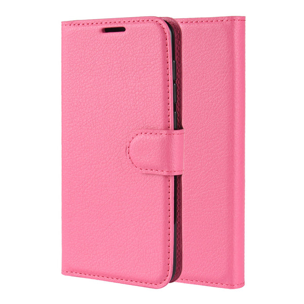 Fuchsia Leather Wallet Case (iPhone 11 Pro)