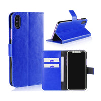 Blue Leather Wallet Case (iPhone X/Xs)