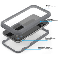 Grey Guardian Rugged Clear Case (iPhone 11)