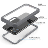 Grey Guardian Rugged Clear Case (iPhone 11 Pro)