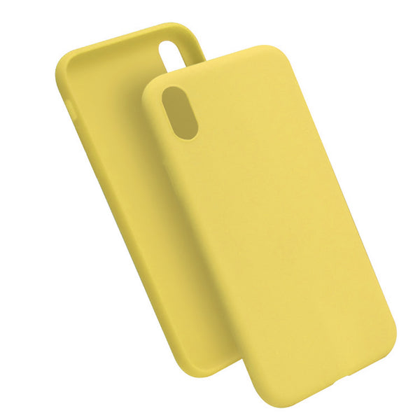 Matte Yellow Soft Case (iPhone XR)