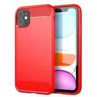 Red Brushed Metal Case (iPhone 11)