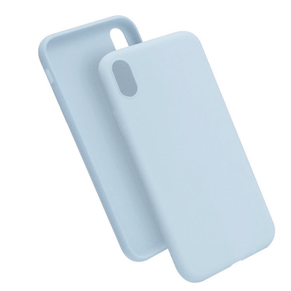 Matte Powder Blue Soft Case (iPhone XR)