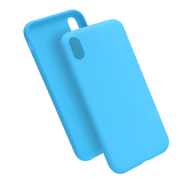 Matte Sky Blue Soft Case (iPhone XR)