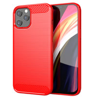 Red Brushed Metal Case (iPhone 12 Pro Max)