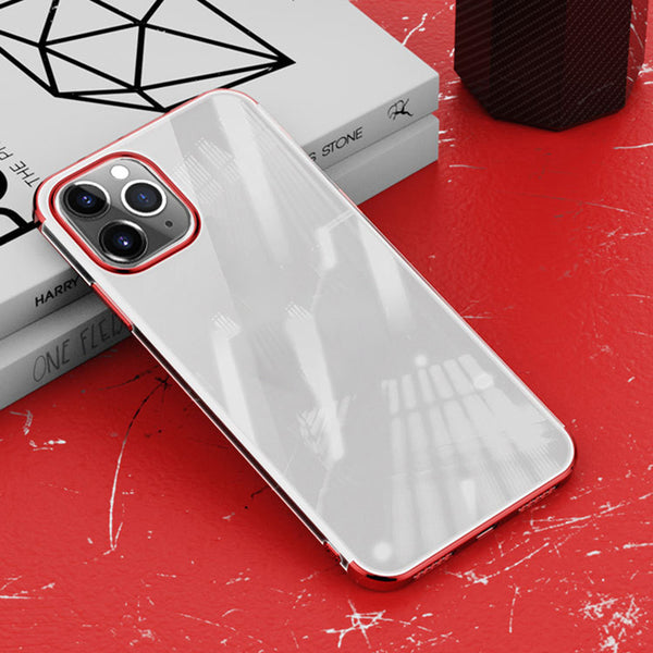 Red Trim Clear Case (iPhone 12 Pro Max)