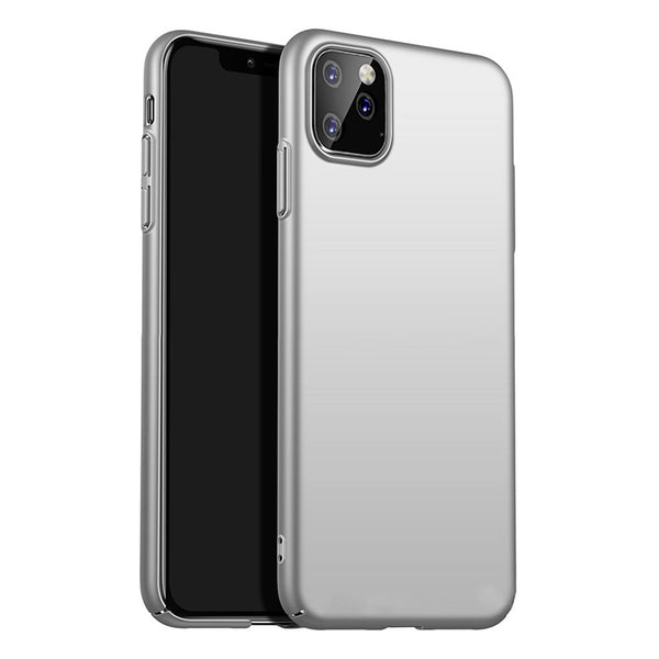 Metallic Silver Hard Case (iPhone 11 Pro Max)