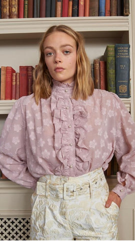 Sister Jane Mother's Mind Blush Pink Ruffle Blouse