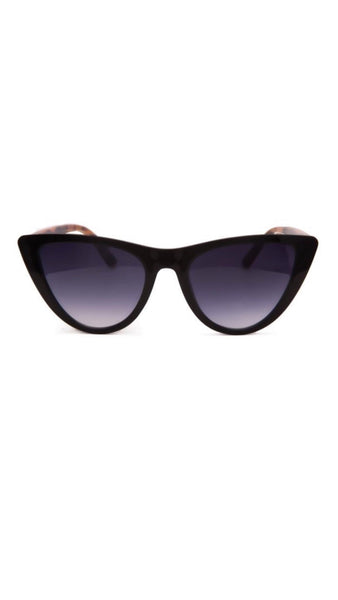 Jeepers Peepers Black & Tortoise Cat Eye Sunglasses