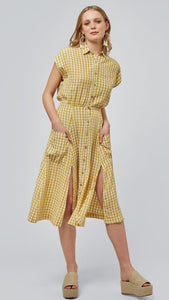 Louche Fleur Gingham Pocket Shirt Dress