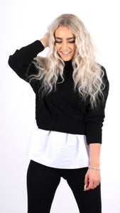 Megan Frill Knitted Shirt Jumper