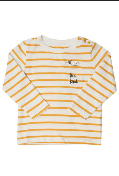 Sugarhill Frankie Mini Me Bee Kind Stripe Top