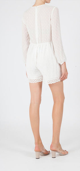 Jovonna Frutta White Playsuit