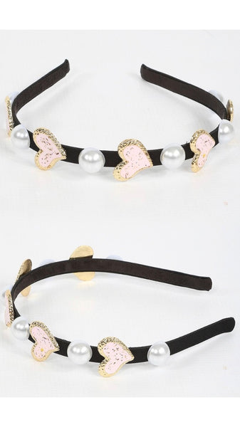 Heart and Pearl Hairband