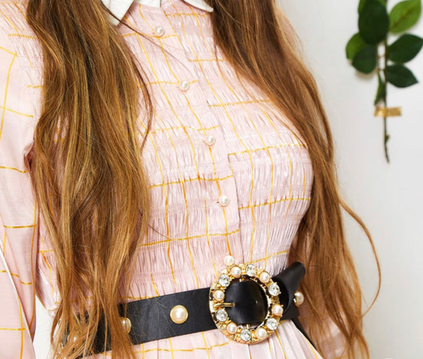 Sister Jane Pearly Faux Leather Belt