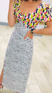 Lucy Multi Print Midaxi Dress