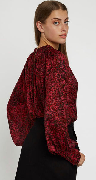 Louche Harmony Fleck Red Blouse