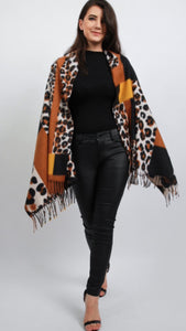 Leopard Print Shawl Scarf (Two Colours)