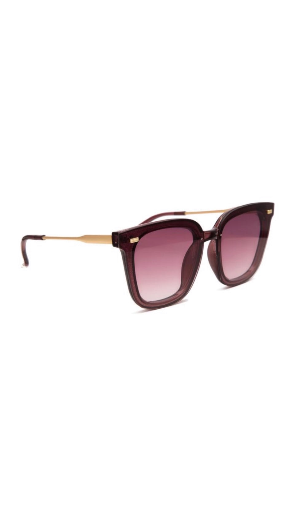 Jeepers Peepers Purple & Gold Square Sunglasses