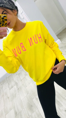 In ChloMo Hun Bun Yellow Sweatshirt