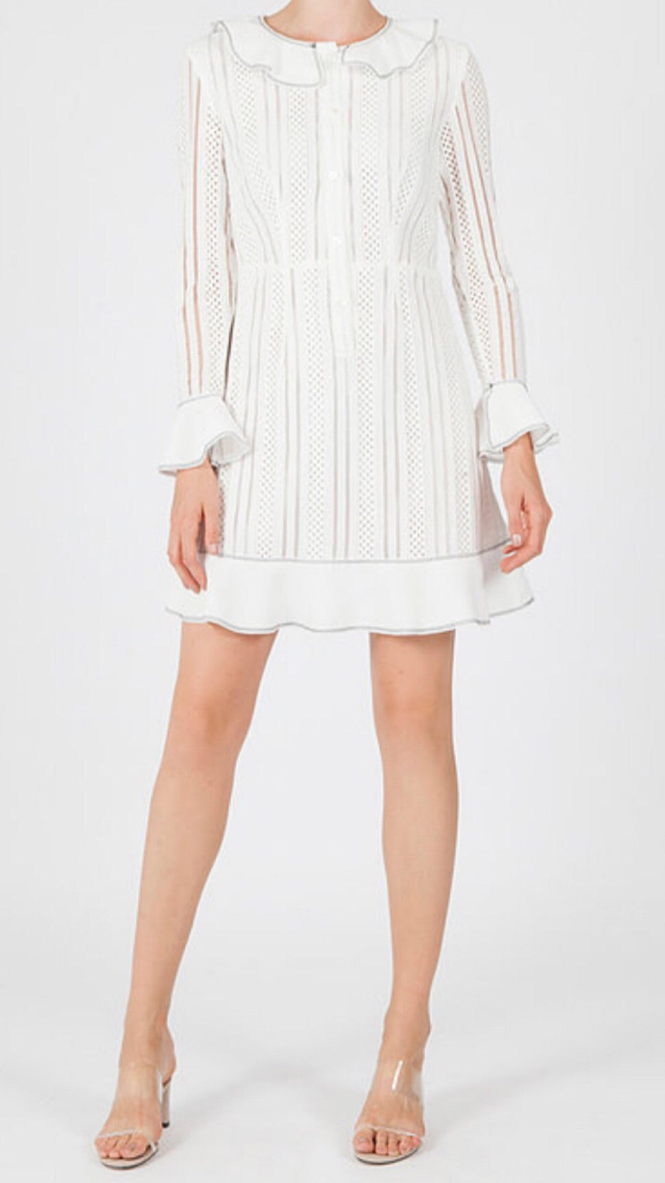 Jovonna Cholko White Lace Dress