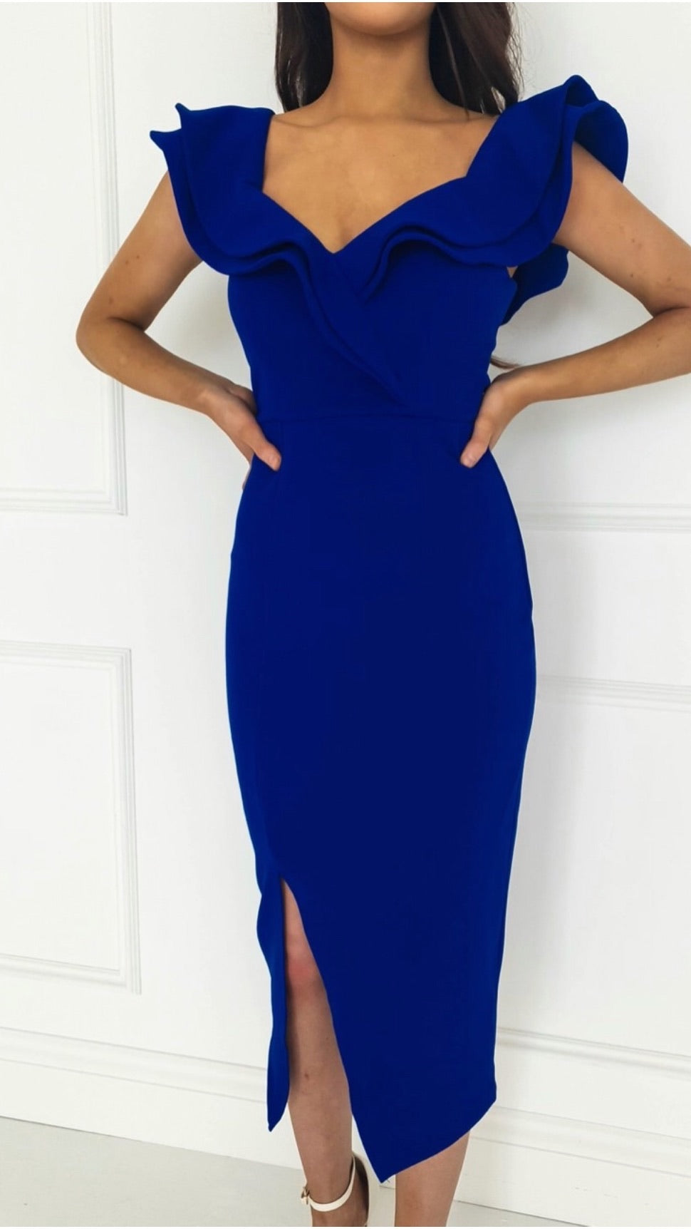 Sienna Cobalt Blue Midi Dress