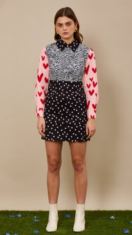 Sister Jane Pick and Mix Mini Dress - Black Grey Pink and Red