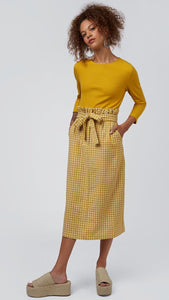 Louche Prescilla Gingham Pencil Skirt