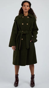 Louche Laurent Borg Green Coat