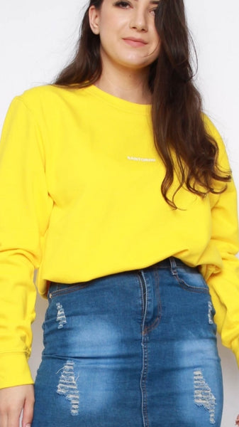 Santorini Yellow Sweatshirt
