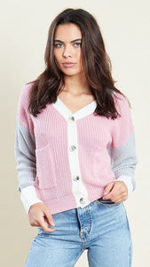 Lola Pastel Colour Block Cardigan