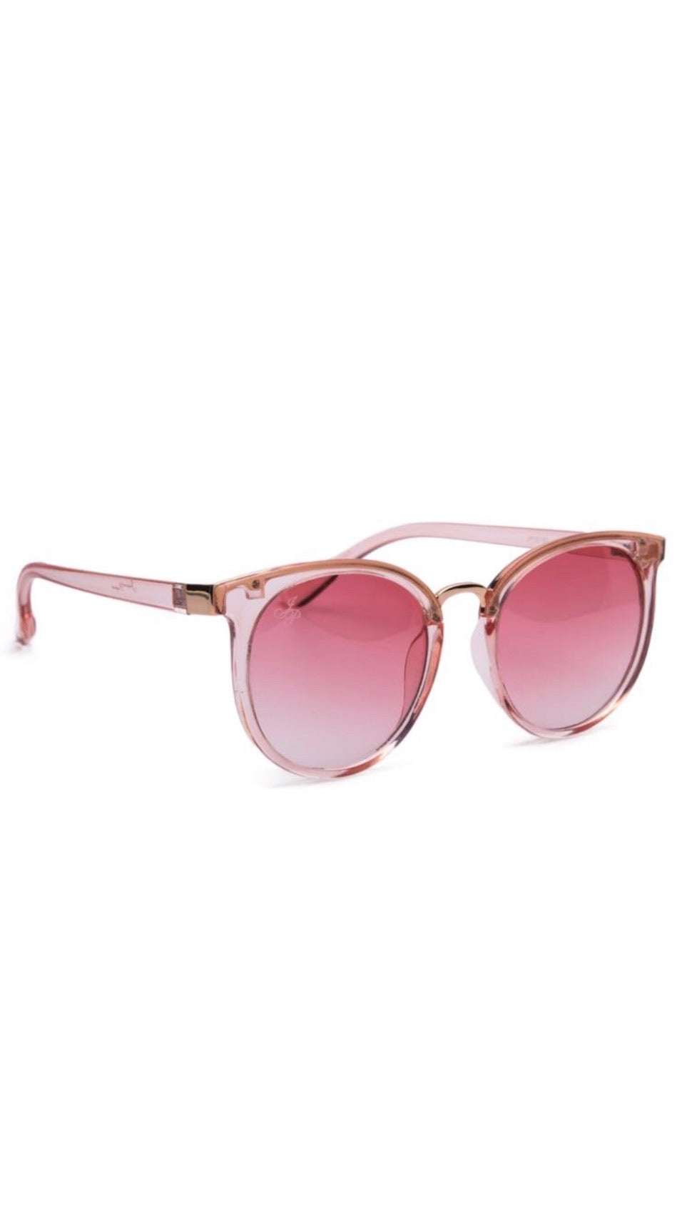 Jeepers Peepers Clear Pink Round Sunglasses