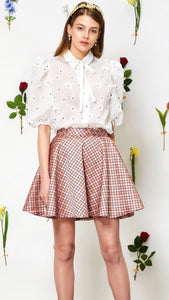 Sister Jane White Posy Puff Sleeve Blouse