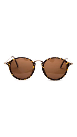 Jeepers Peepers Tortoise Shell Round Sunglasses