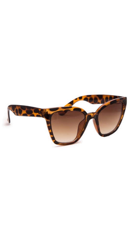 Jeepers Peepers Square Tortoise Sunglasses