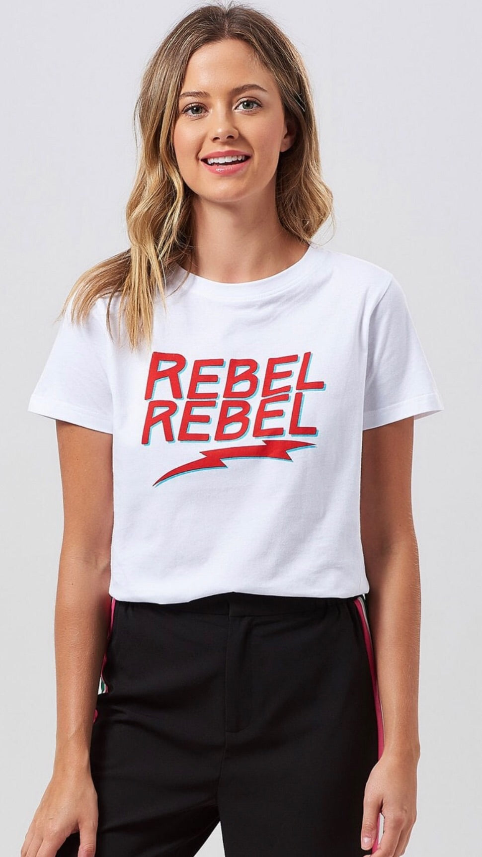 Sugarhill Mimi Rebel Rebel White T-Shirt