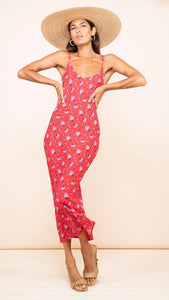 Dancing Leopard Sienna Midaxi Dress in Red Daisy
