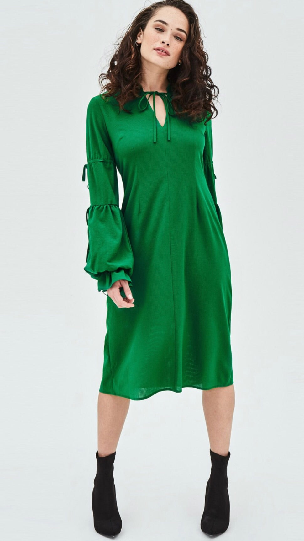 Elvi Green Tie Dress