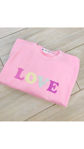 In ChloMo Love Pastel Pink Sweatshirt