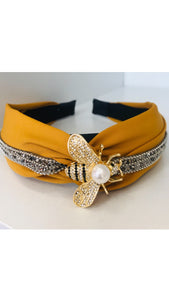 Grace Loves Queen Bee Yellow Headband