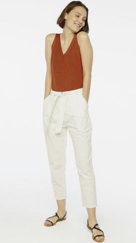 Compania Fantastica White Paper Bag Trousers
