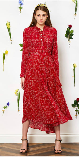 Sister Jane Flutter Dot Maxi Dress