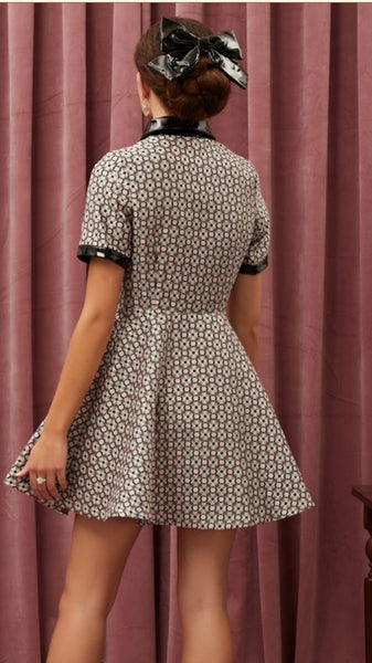 Sister Jane Hostess Jacquard Mini Dress
