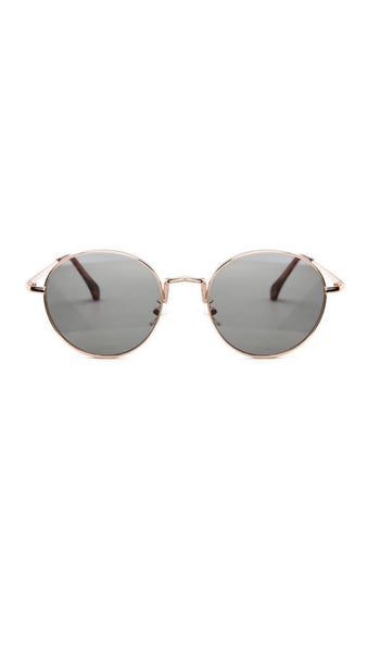 Jeepers Peepers Gold Round Sunglasses