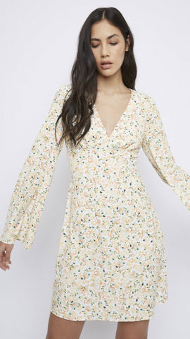 Glamorous White Floral Wrap Dress