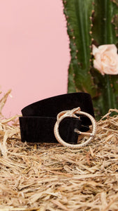 Sister Jane Diamond Back Faux Leather Belt