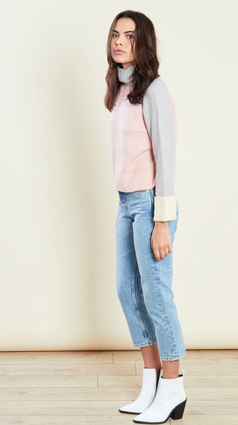 Lula Pastel Colour Block Jumper