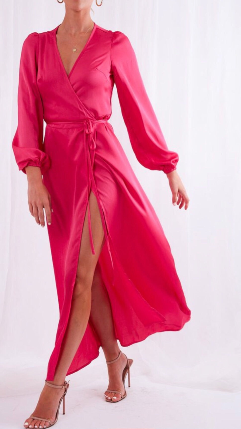 Pretty Lavish Josephine Pink Wrap Dress